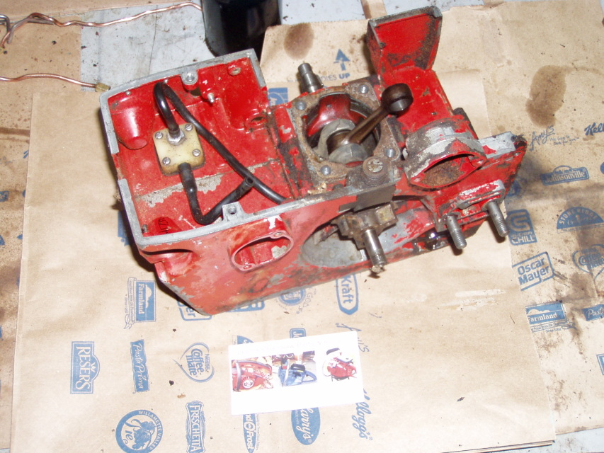 Used Jonsered 52 Chainsaw Crankcase Assembly U1734