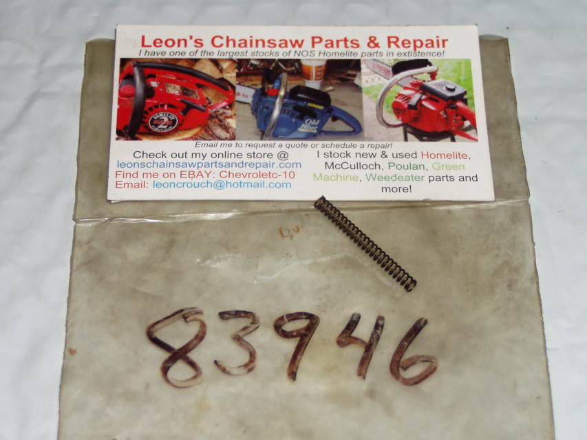 McCulloch 100S, 110, 120, 130, 140, 160S Chainsaw Parts
