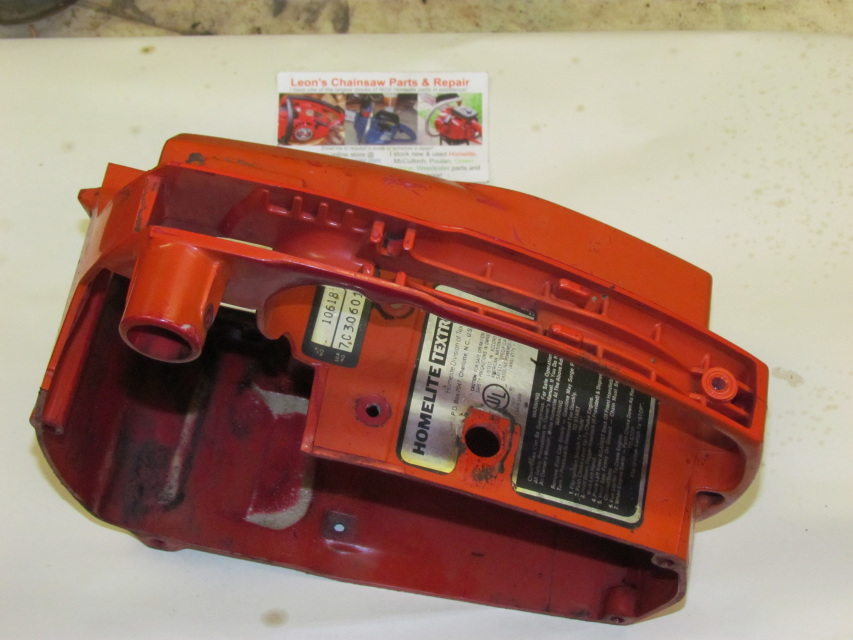 Used Homelite Xl Chainsaw Engine Housing  U0026 Throttle Handle