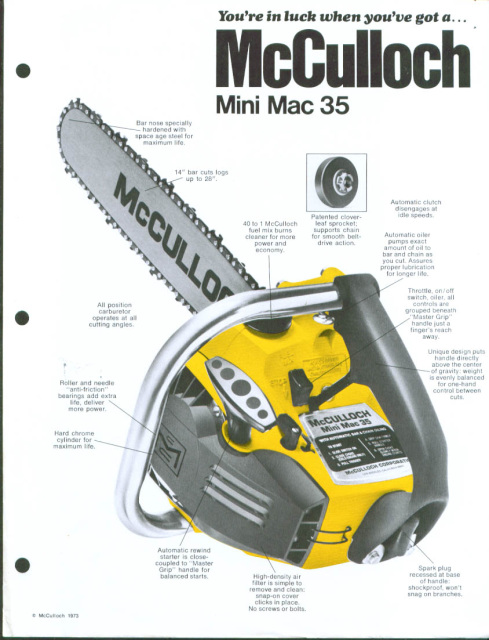 Super Pro Replacement Parts : Mcculloch chainsaw