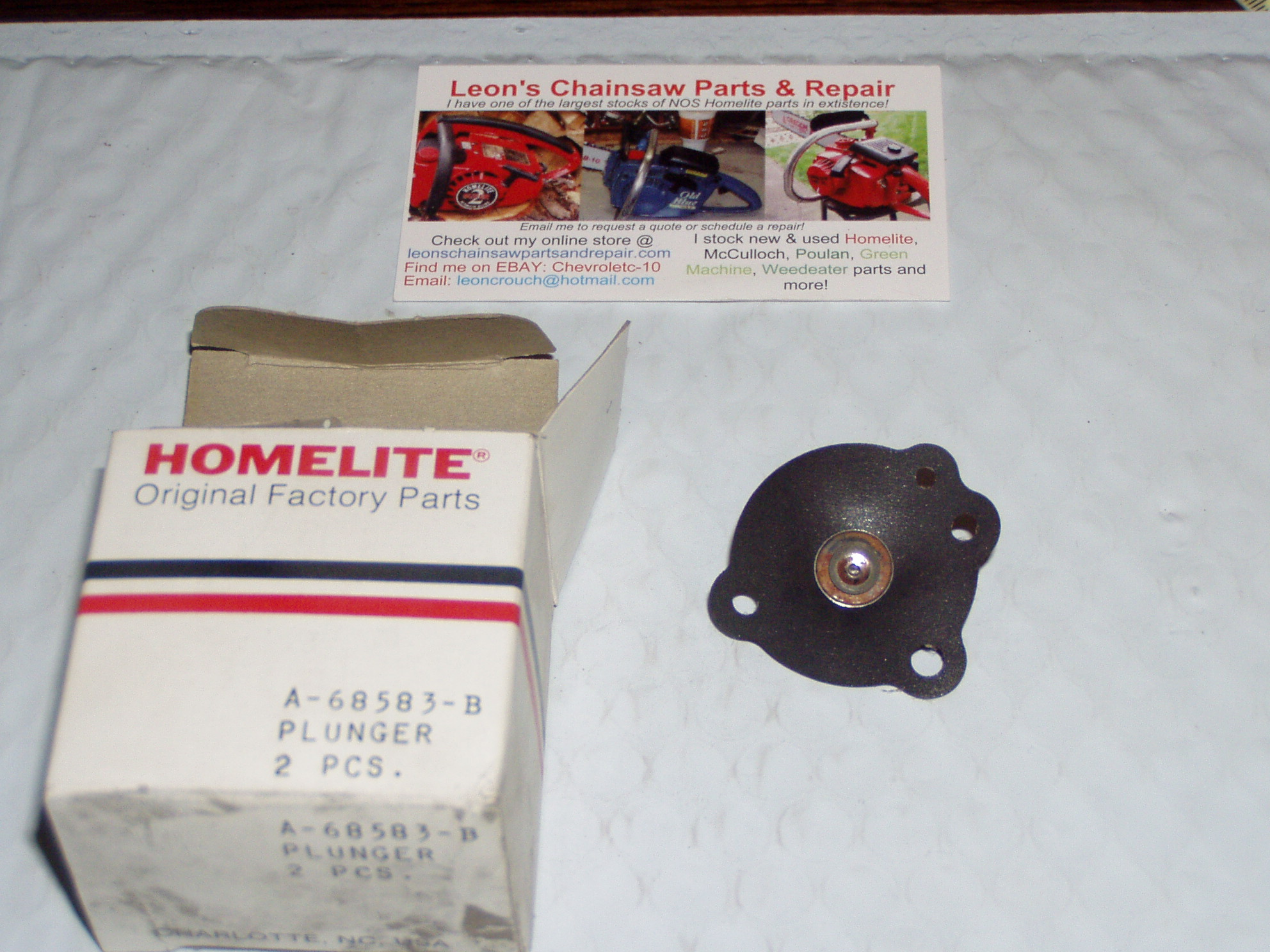 Nos homelite 150 chainsaw automatic oil pump diaphragm plunger a nos homelite 150 chainsaw automatic oil pump diaphragm plunger a 68583 b ccuart Choice Image