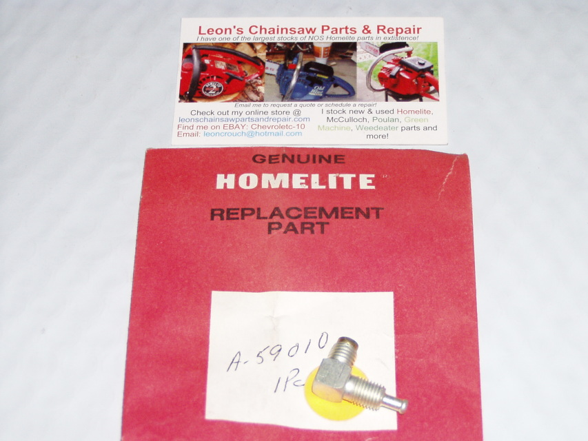 NOS Homelite XL-12 Chainsaw Manual Oil Pump Pickup Hose Check Valve