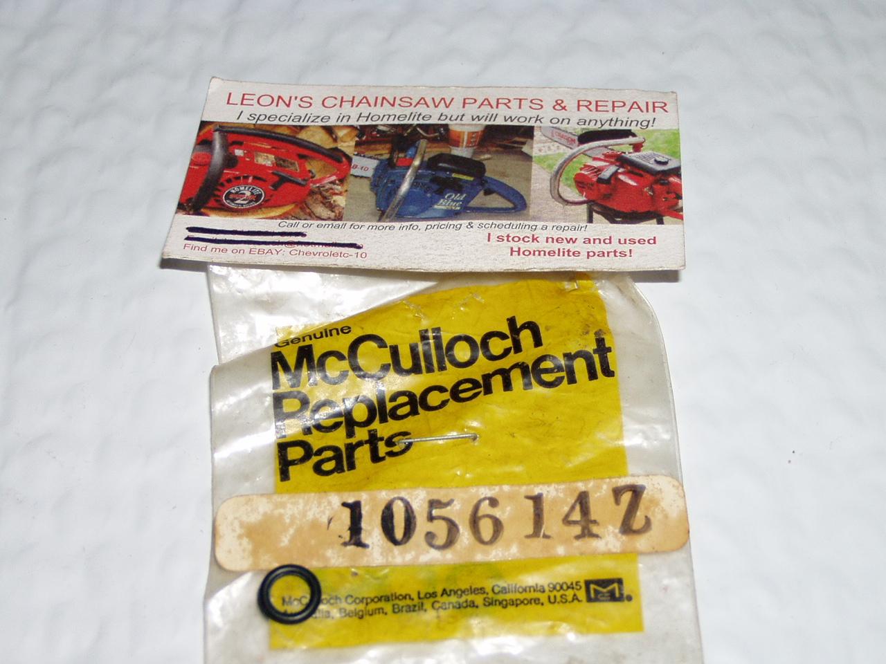nos mcculloch pro mac 610 650 700 800 chainsaw manual pump rod o rh leonschainsawpartsandrepair com McCulloch 610 Chainsaw Service Manual McCulloch PM 610 Manual
